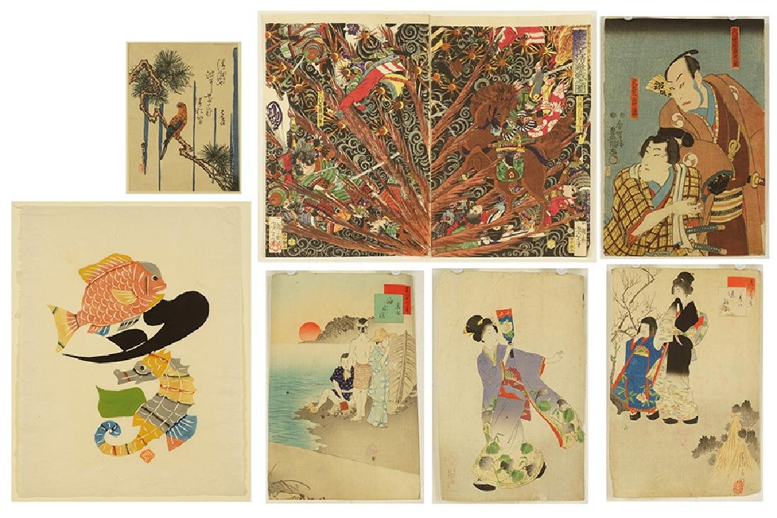 A Collection of 19th Century Japanese Prints.