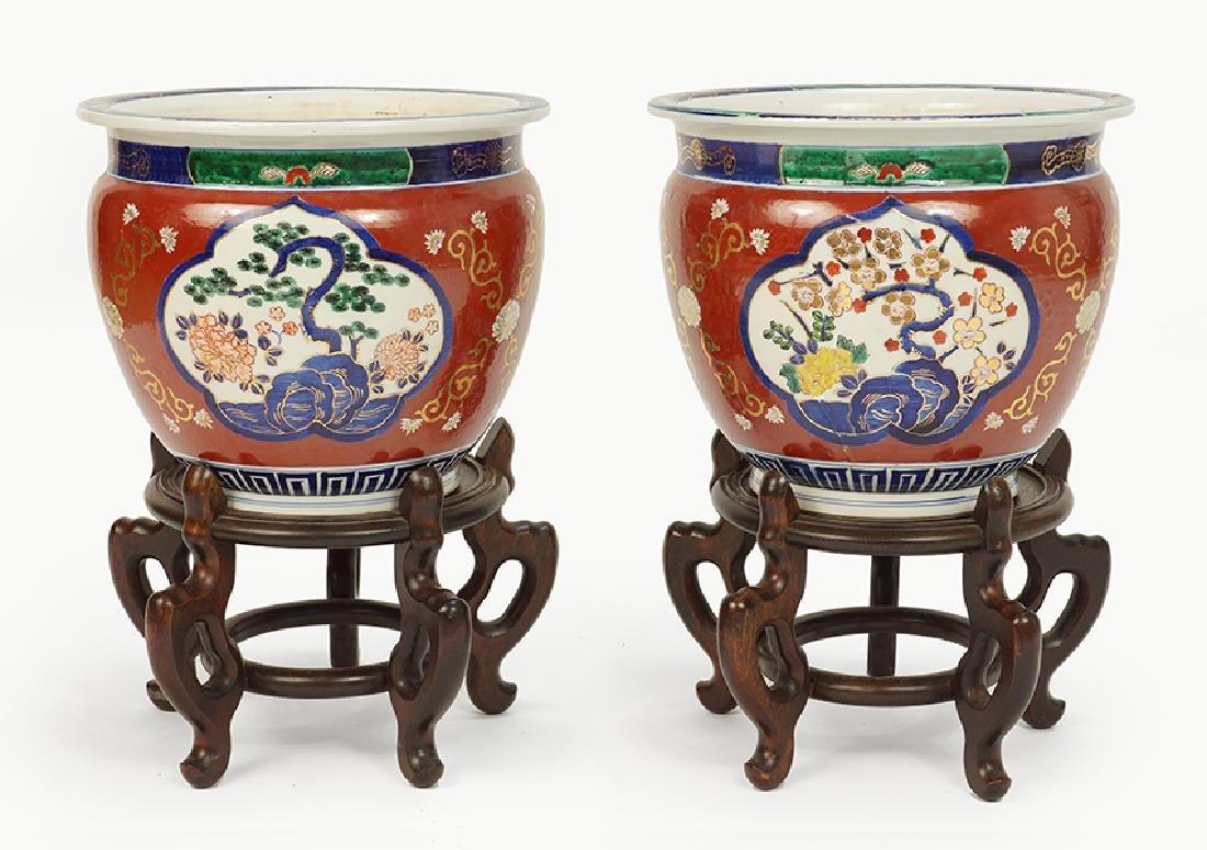 A Pair of Porcelain Fish Bowls.