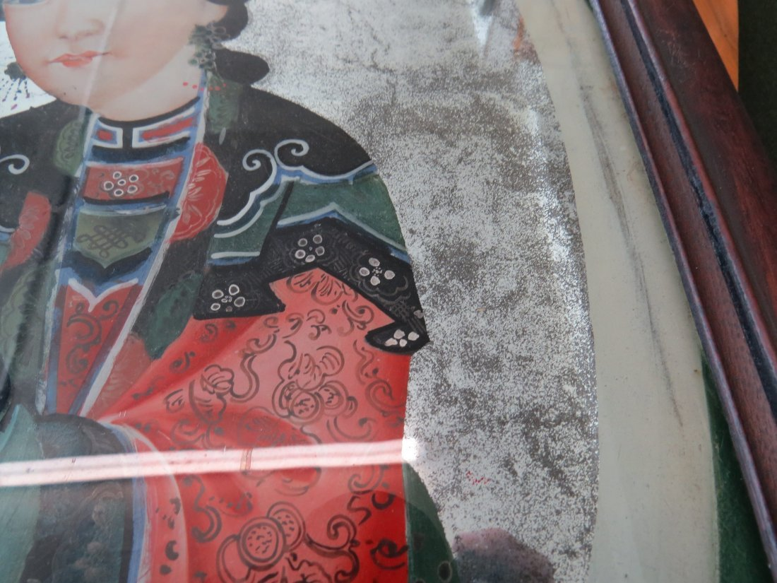 Three Chinese Reverse Paintings on Glass. - 8