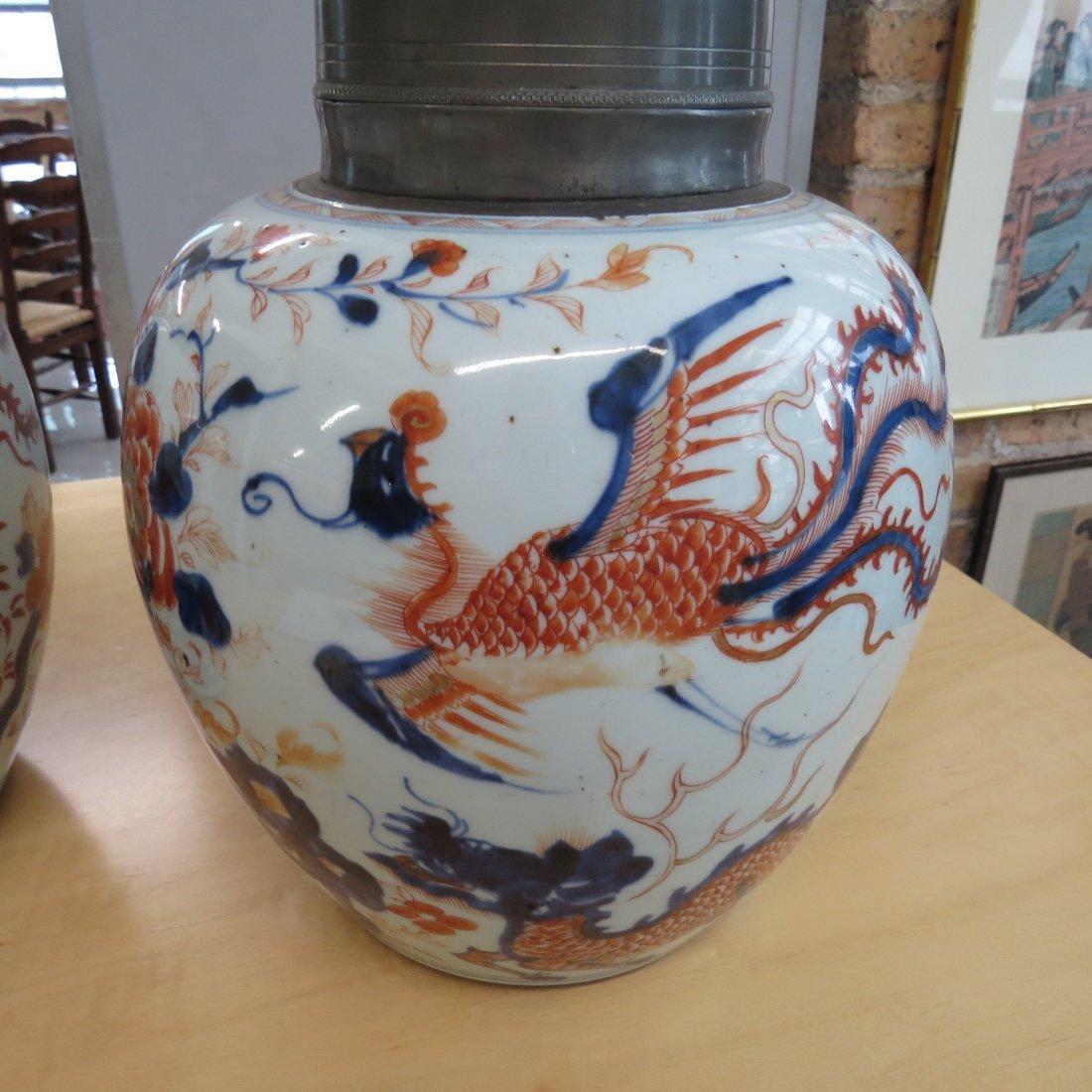 A Pair of 18th Century Chinese Porcelain Tea Caddies. - 5