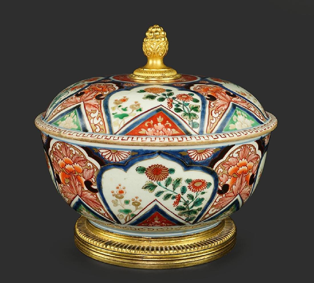 An 18th Century Chinese Imari Porcelain Tureen.