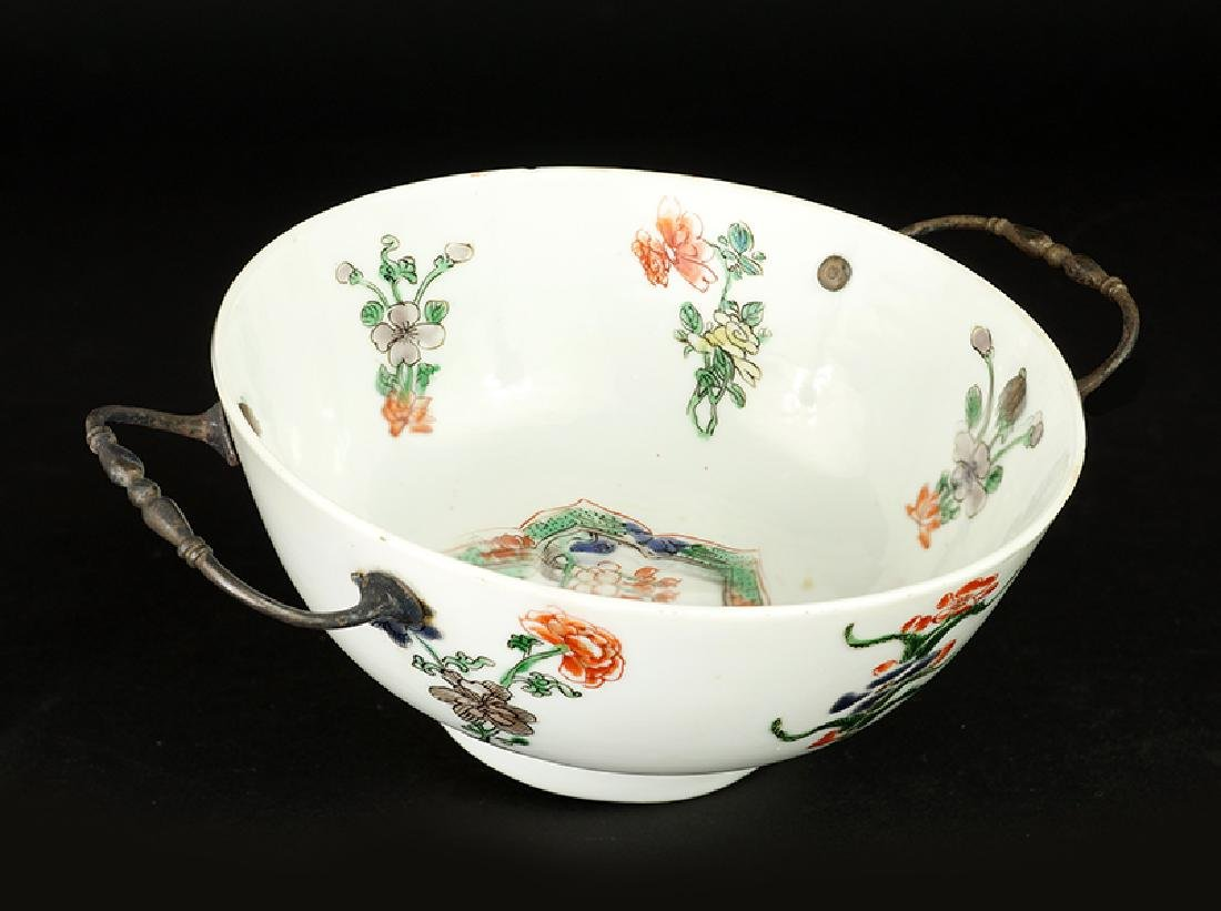 An 18th Century Chinese Famille Verte Porcelain Bowl.