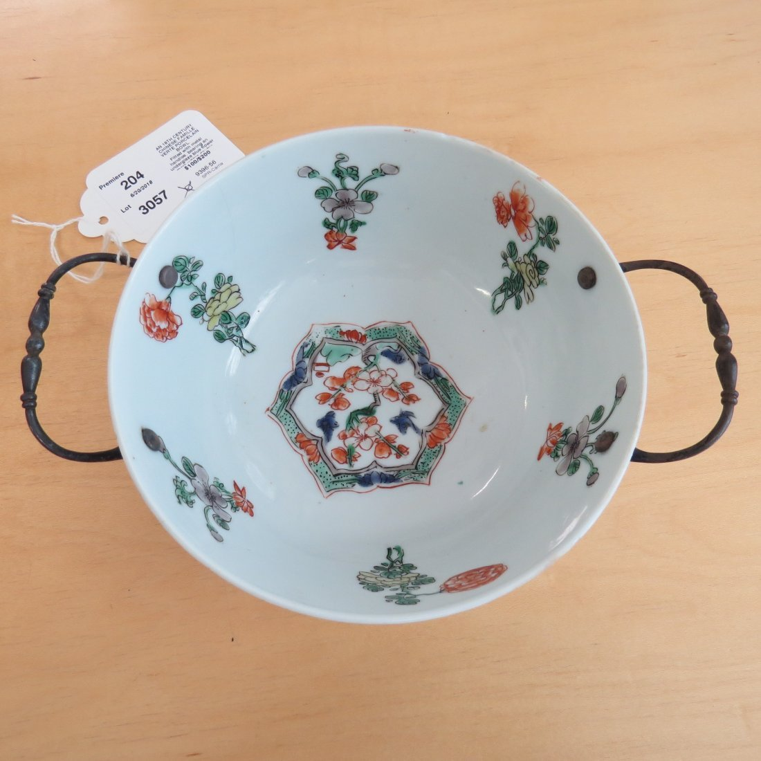 An 18th Century Chinese Famille Verte Porcelain Bowl. - 2