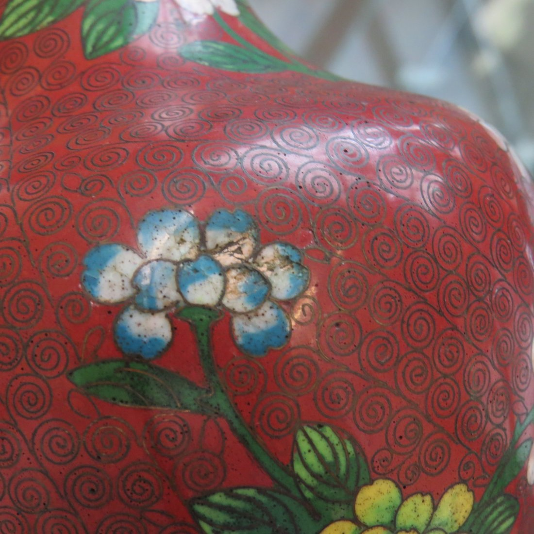 A Collection of Cloisonne Vases. - 10