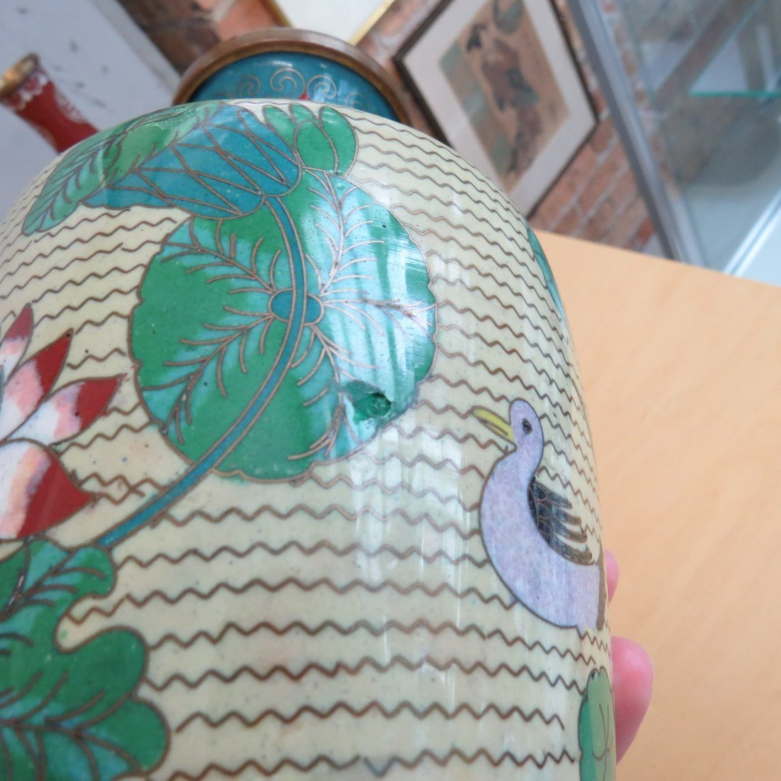 A Collection of Cloisonne Vases. - 5