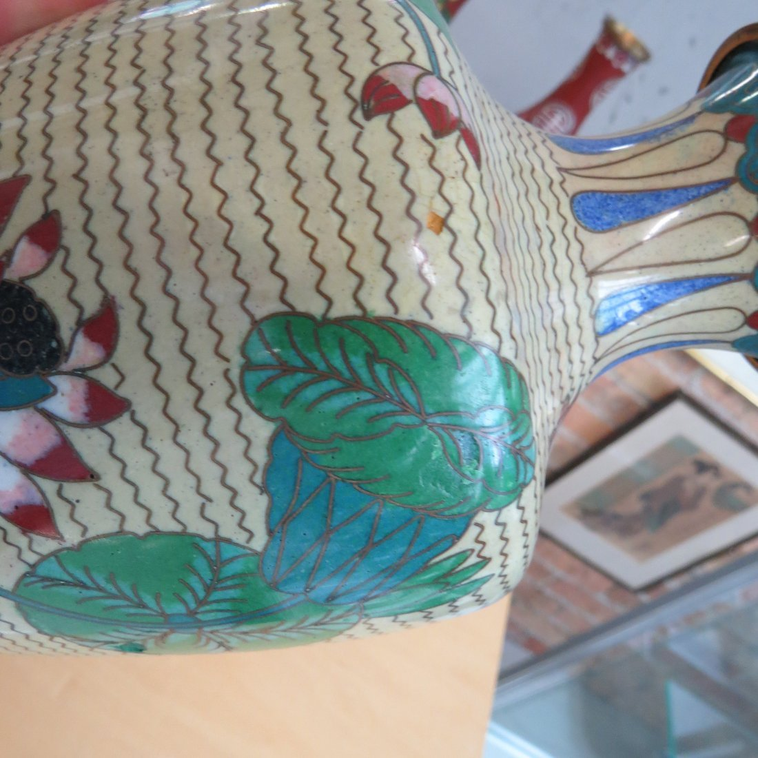 A Collection of Cloisonne Vases. - 6