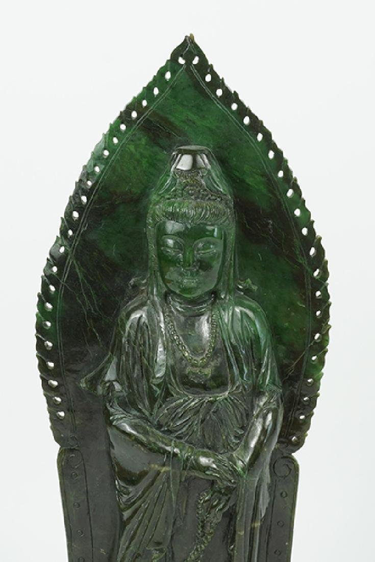 A Carved Hardstone Figure of Guan Yin. - 2