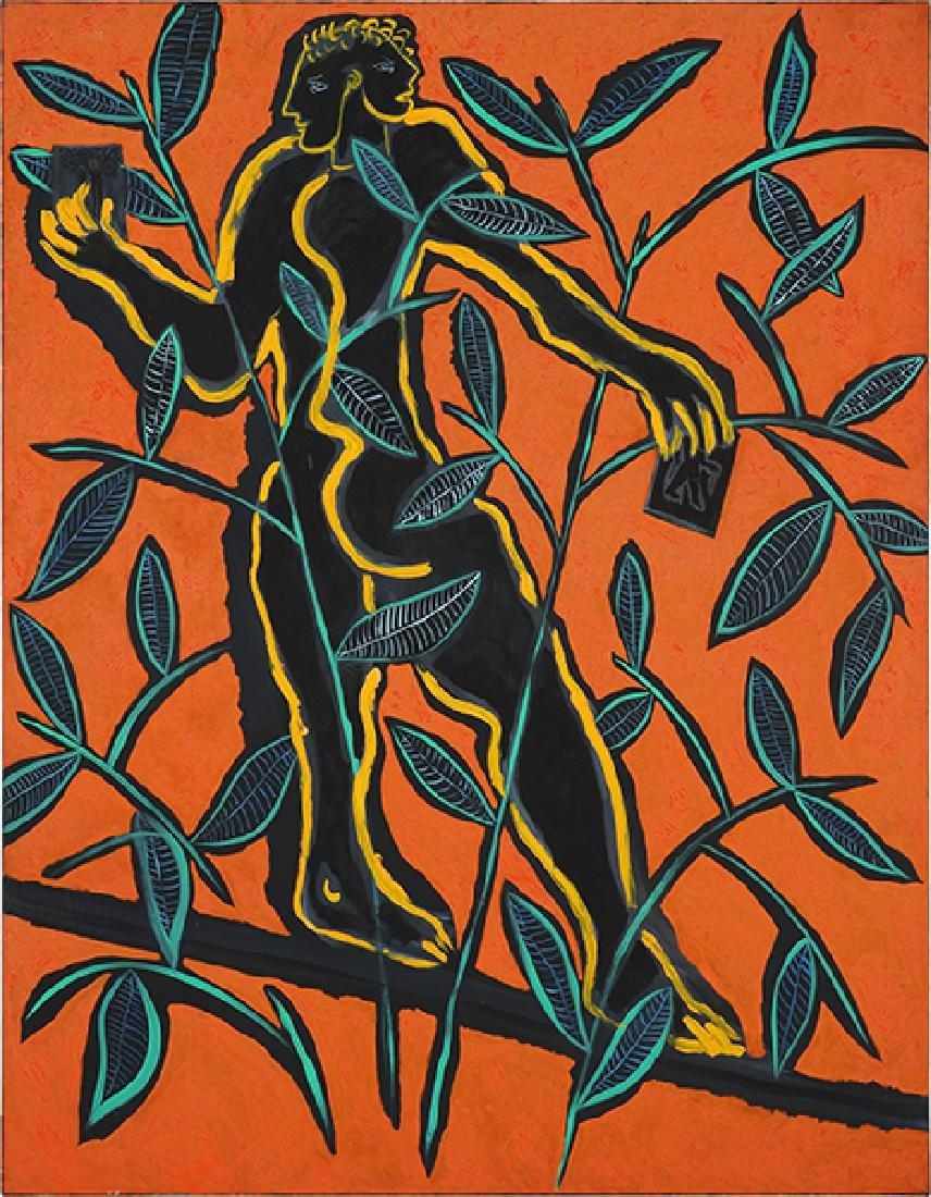 Marco del Re (Italian, B. 1950) Equilibriste et Noir.