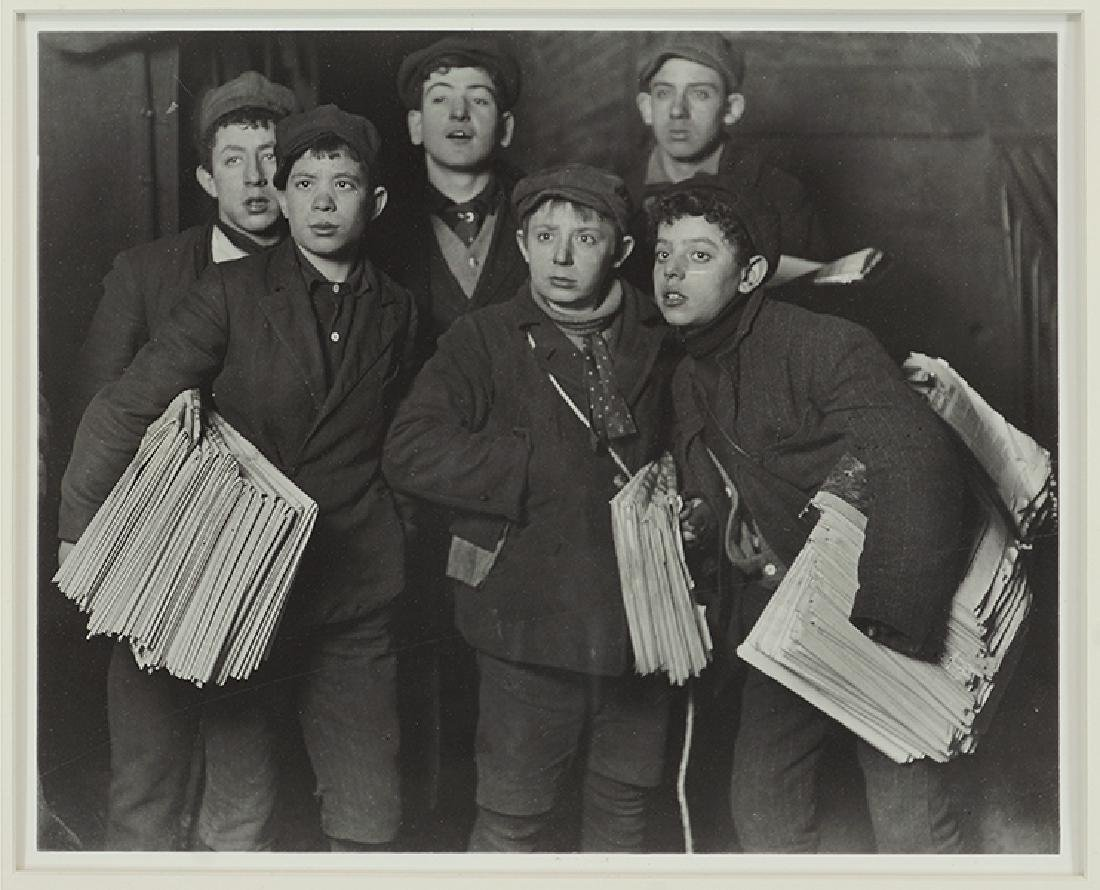 Lewis Hine (American, 1874-1940) Group of Newsboys