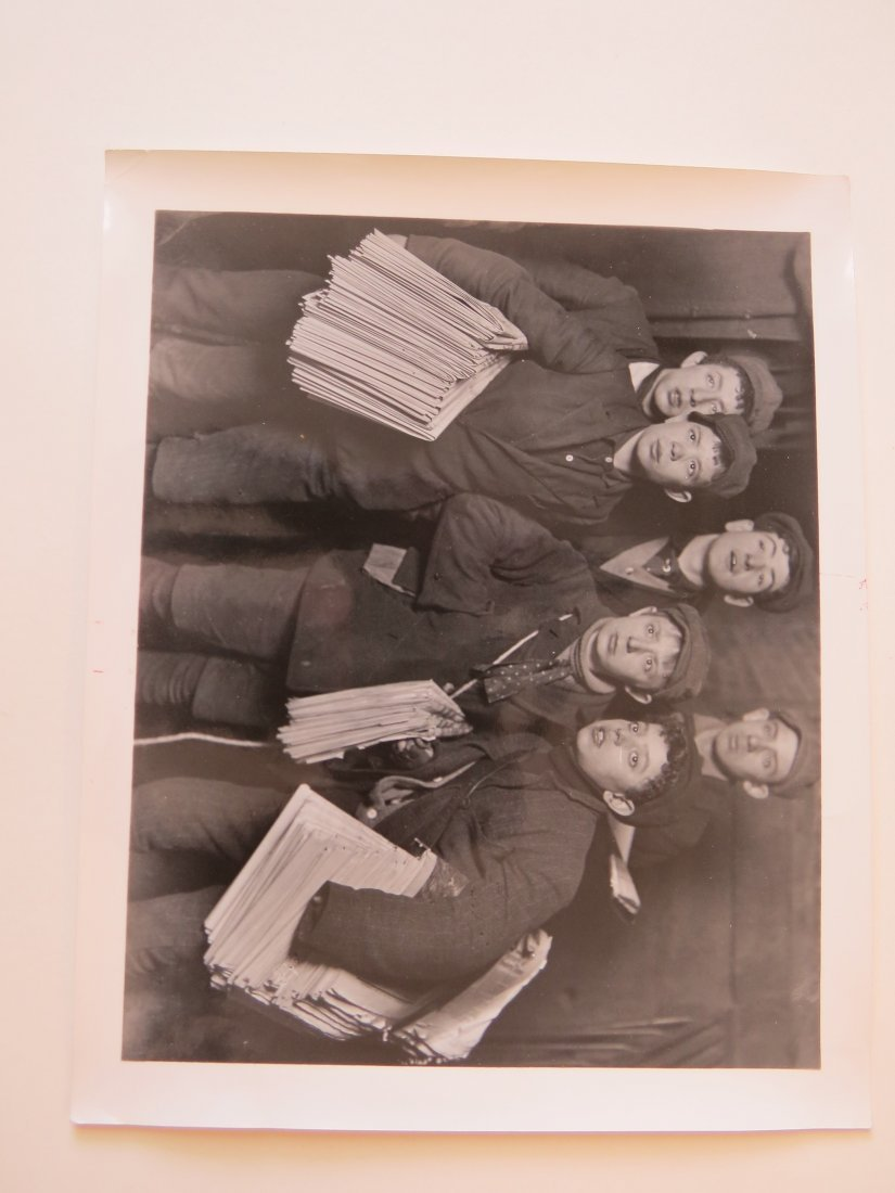 Lewis Hine (American, 1874-1940) Group of Newsboys - 2