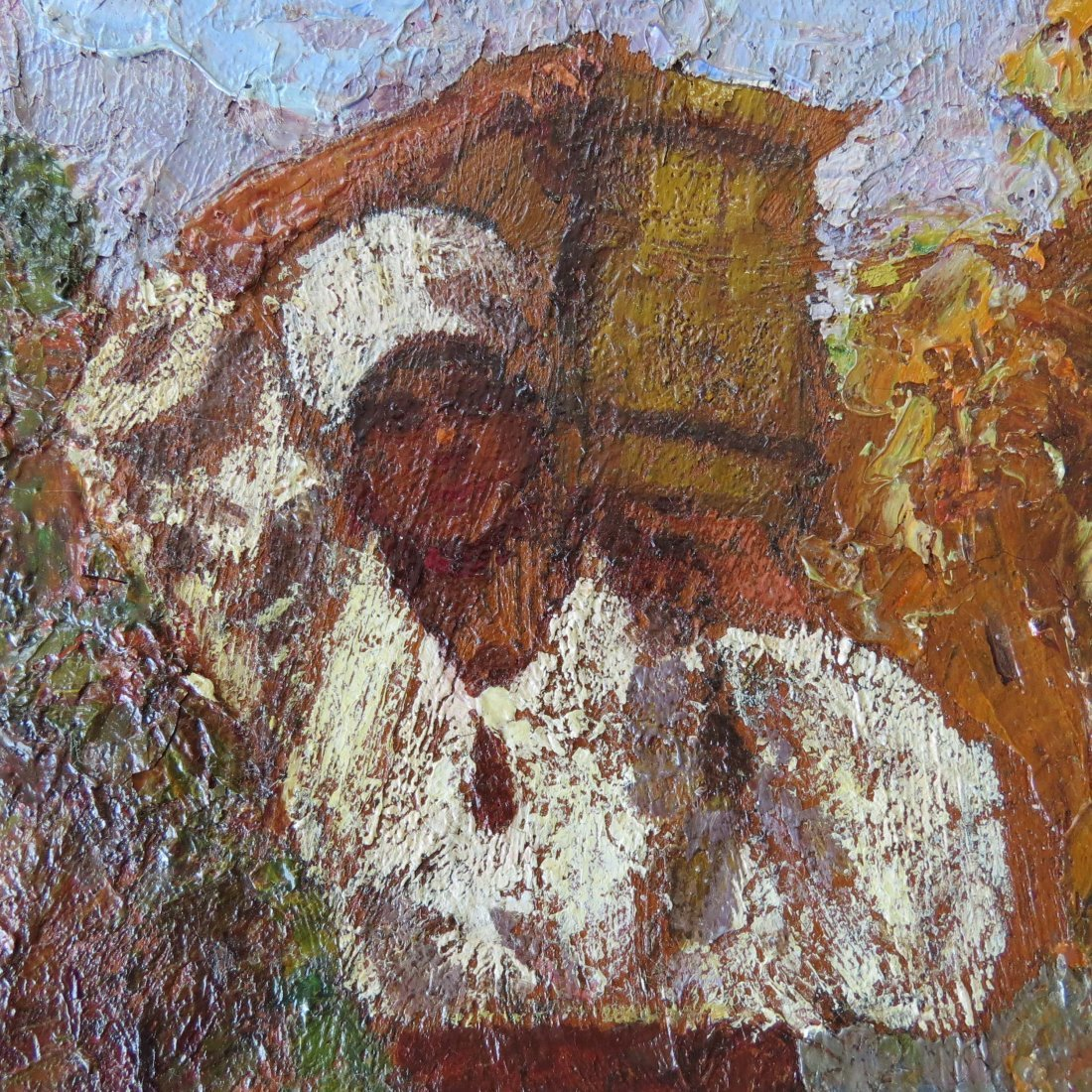 Artist Unknown (20th Century) Woman With a Basket. - 2