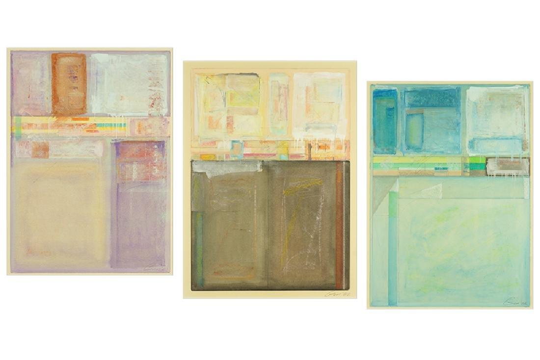 Lee Gum (American, 20th Century) Three Works.