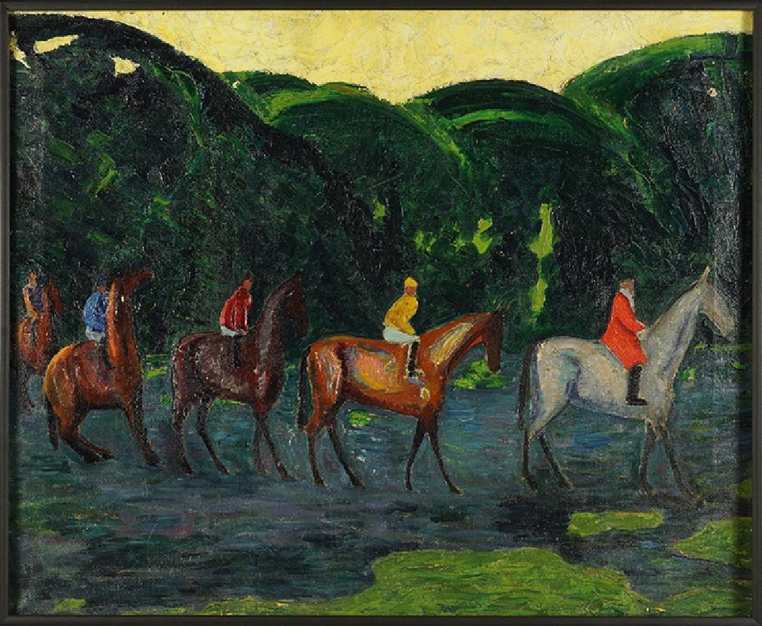 Artist Unknown (American, 20th Century) Five Horsemen.