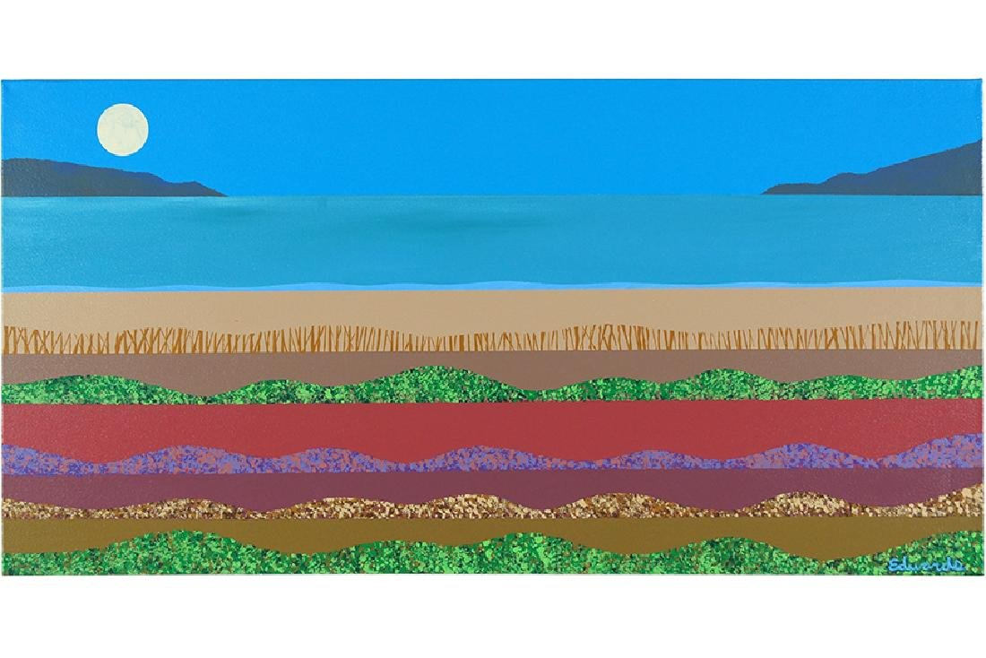 Stanley Edwards (American, B. 1941) Beach Landscape in