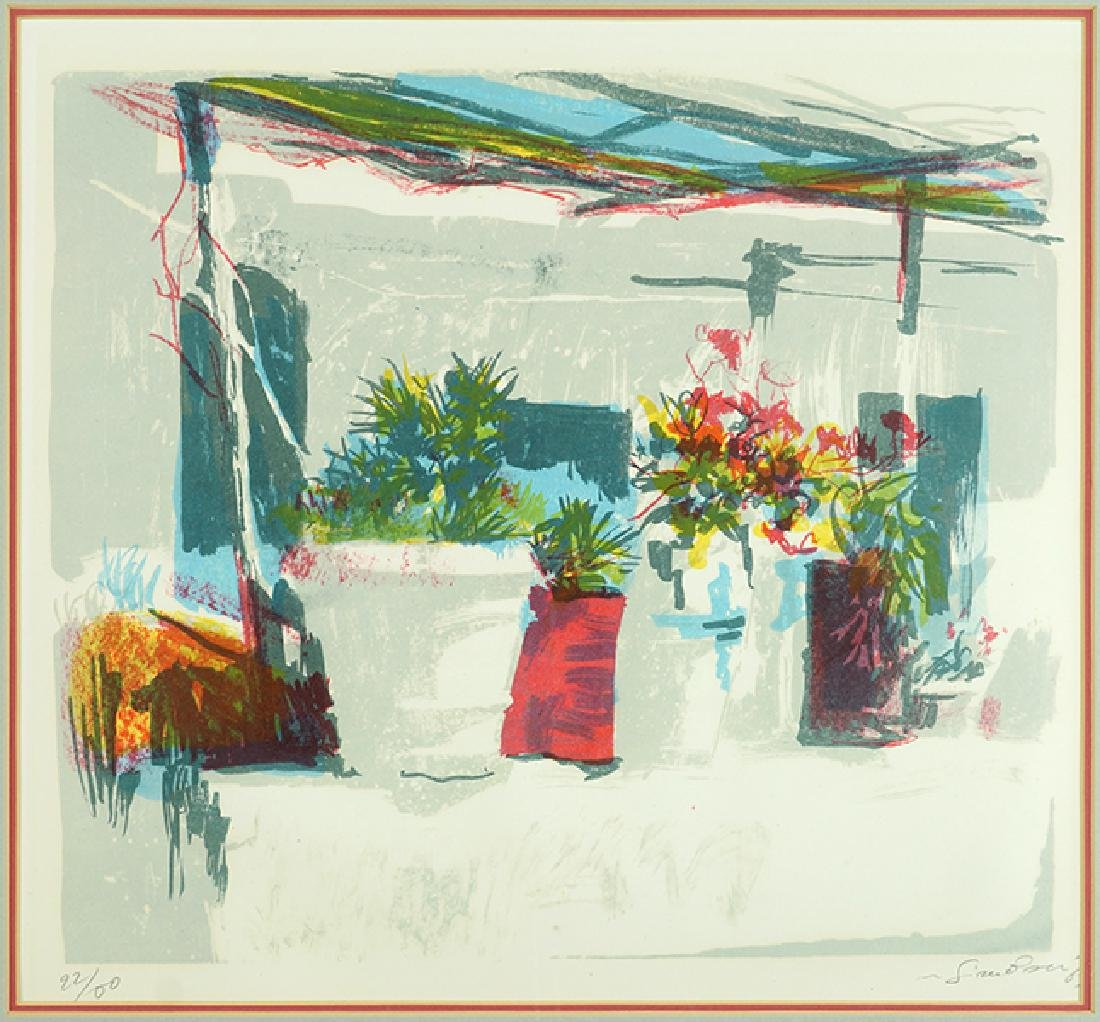 Nicola Simbari (Italian, 1927-2012) Garden Scene.