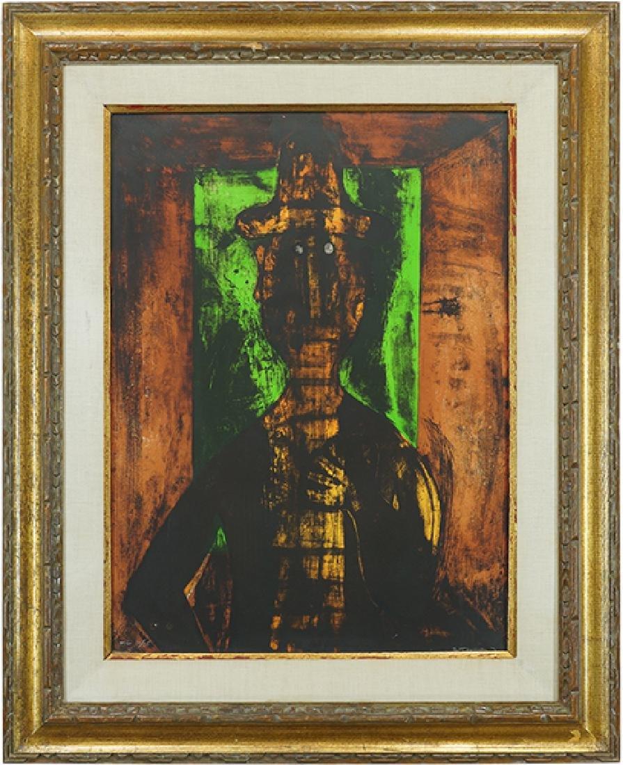 Rufino Tamayo (Mexican, 1899-1991) Hombre en Fondo - 2
