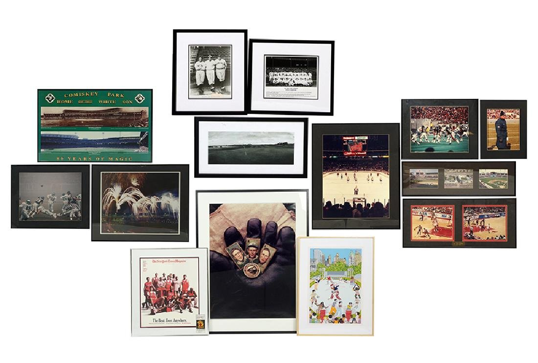 A Collection of Sports Prints, Posters, and