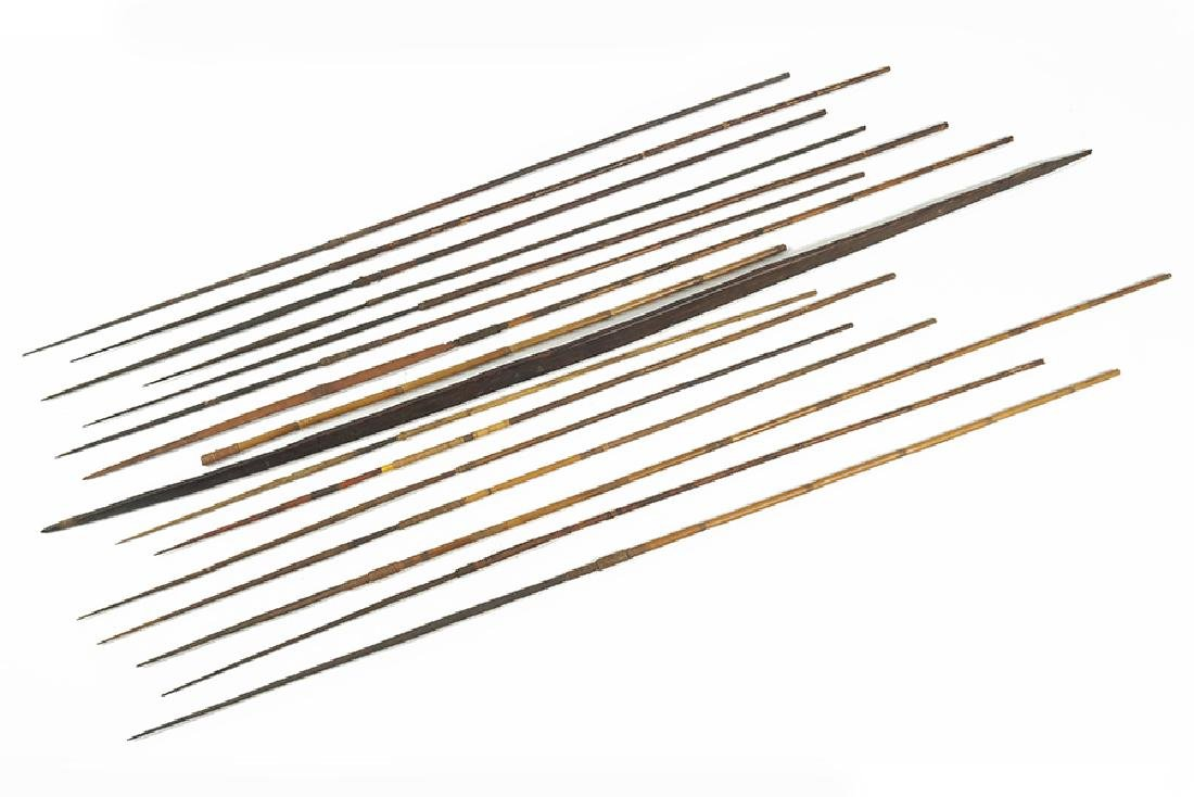 A Papua New Guinea Bow and Arrows.