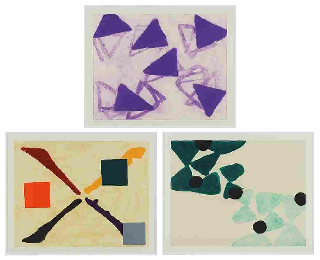 Katherine Bradford (American, Contemporary) Three