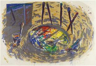 Alfonso Albacete (Spanish, B. 1950) Paleta de Pintor.