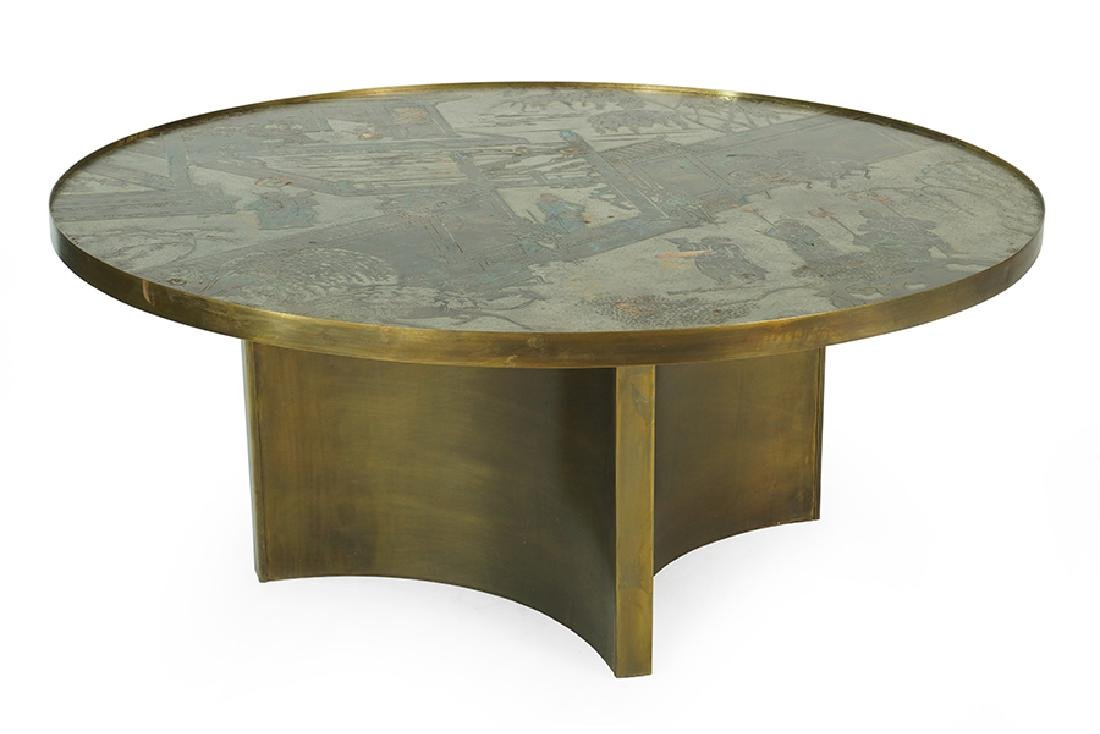A Philip and Kelvin Laverne Cocktail Table.