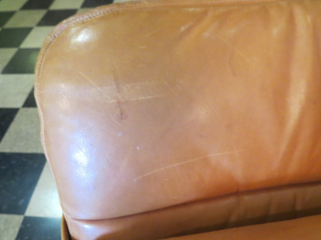 A Walter Knoll for Brayton Leather Chaise Longue. - 8