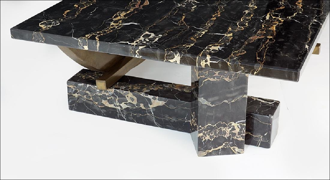 A Marble and Bronze Cocktail Table. - 2