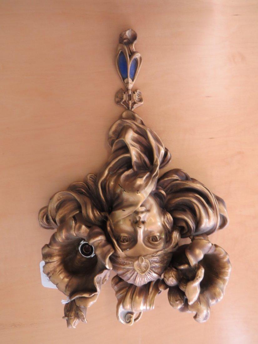 A Pair of Art Nouveau Style Sconces. - 8