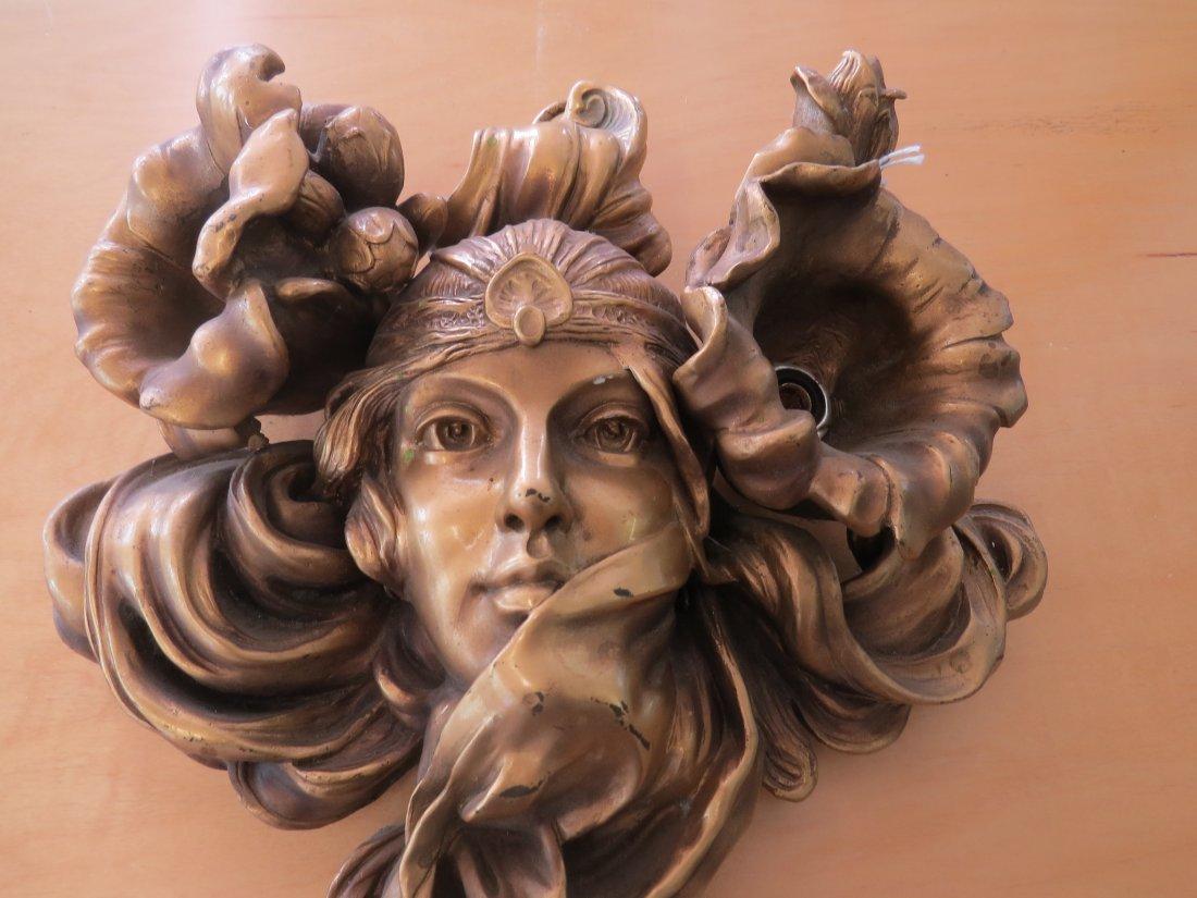 A Pair of Art Nouveau Style Sconces. - 9