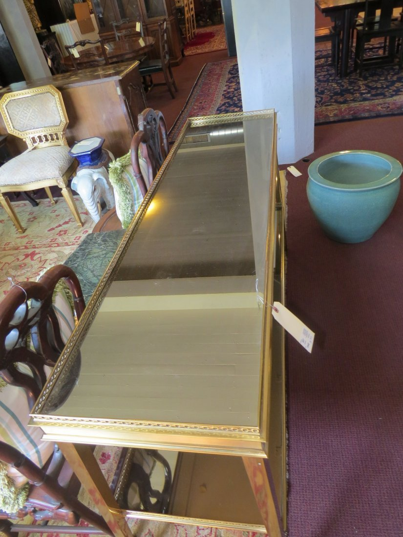 A 20th Century Brass Two-Tier Console Table. - 3