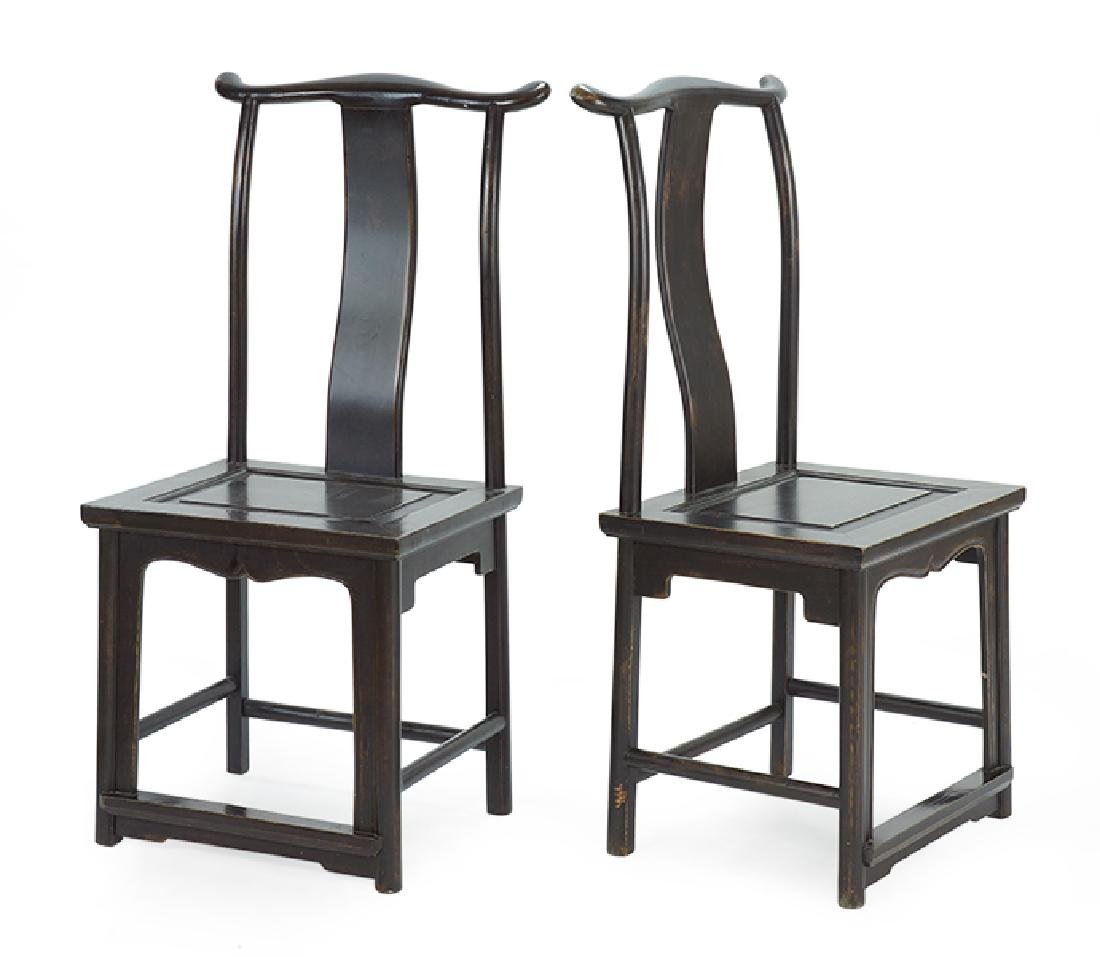 A Set of Six Chinese Yoke Back Chairs.
