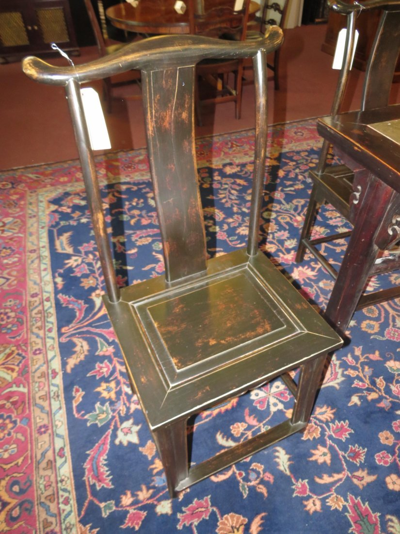 A Set of Six Chinese Yoke Back Chairs. - 9