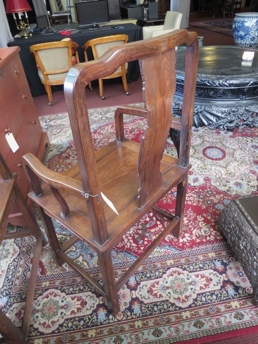 A Pair of Chinese Hardwood Palace Chairs. - 10