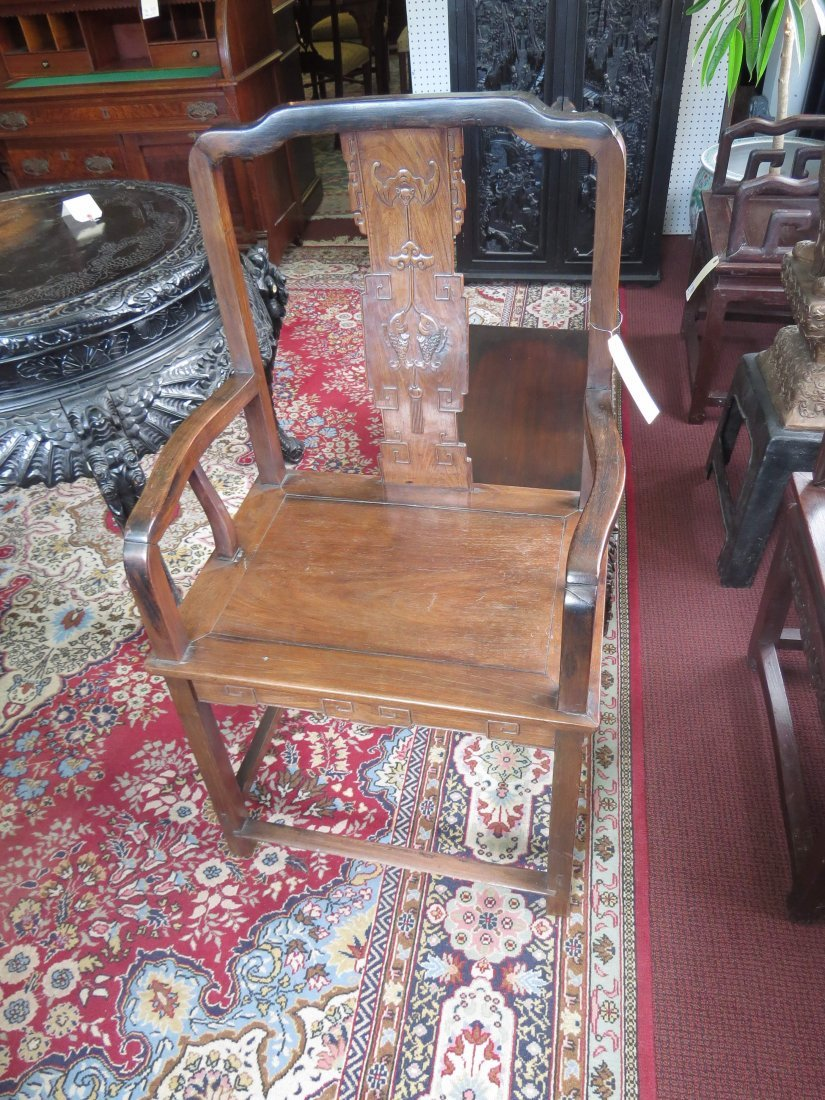 A Pair of Chinese Hardwood Palace Chairs. - 2