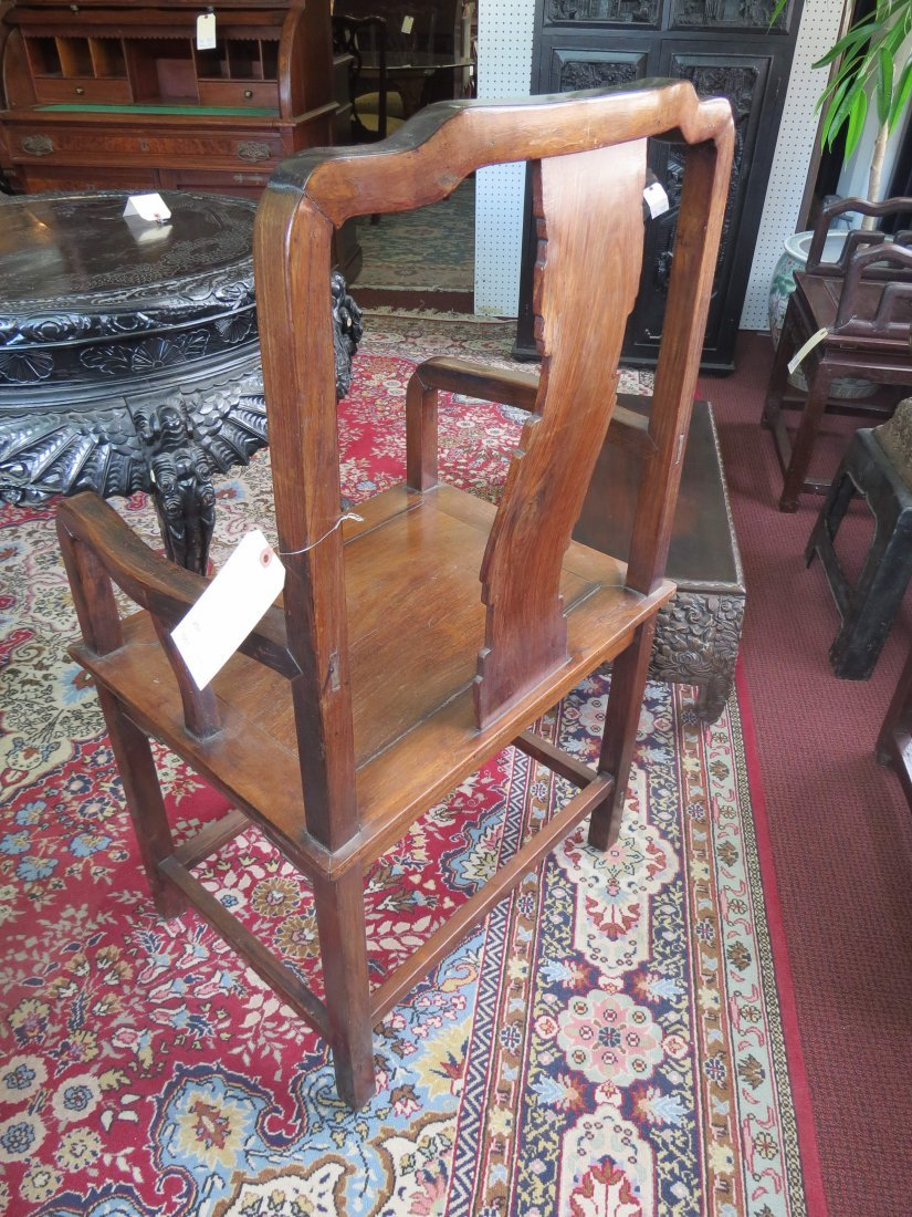 A Pair of Chinese Hardwood Palace Chairs. - 3