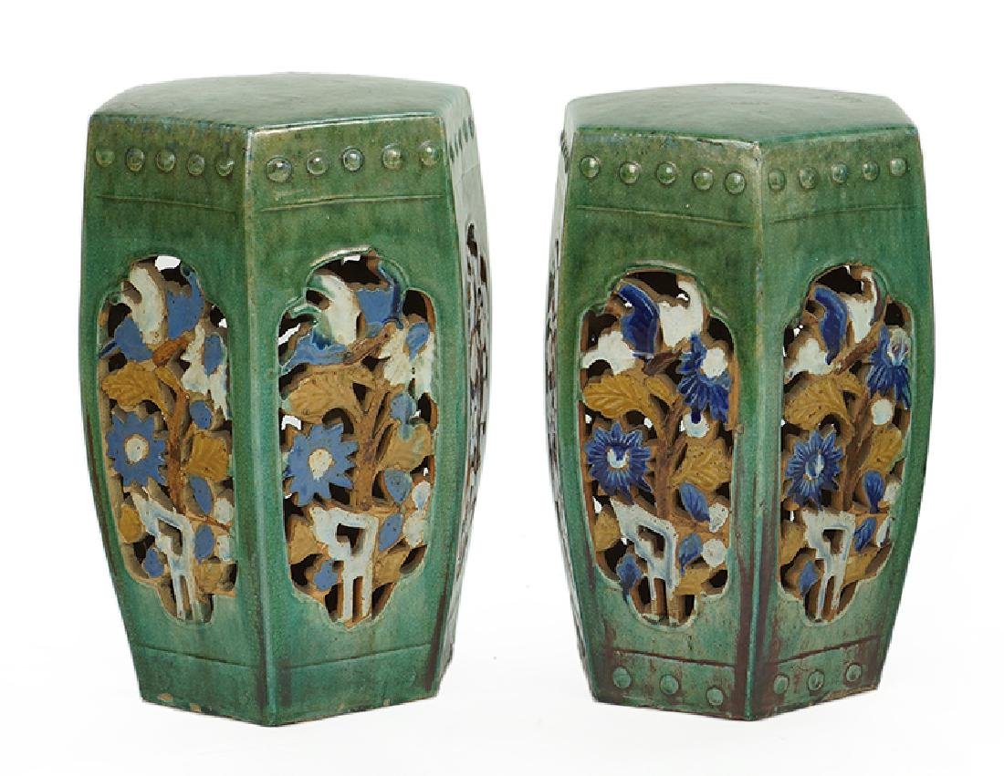 A Chinese Glazed Ceramic Jardiniere With Stand. - 3