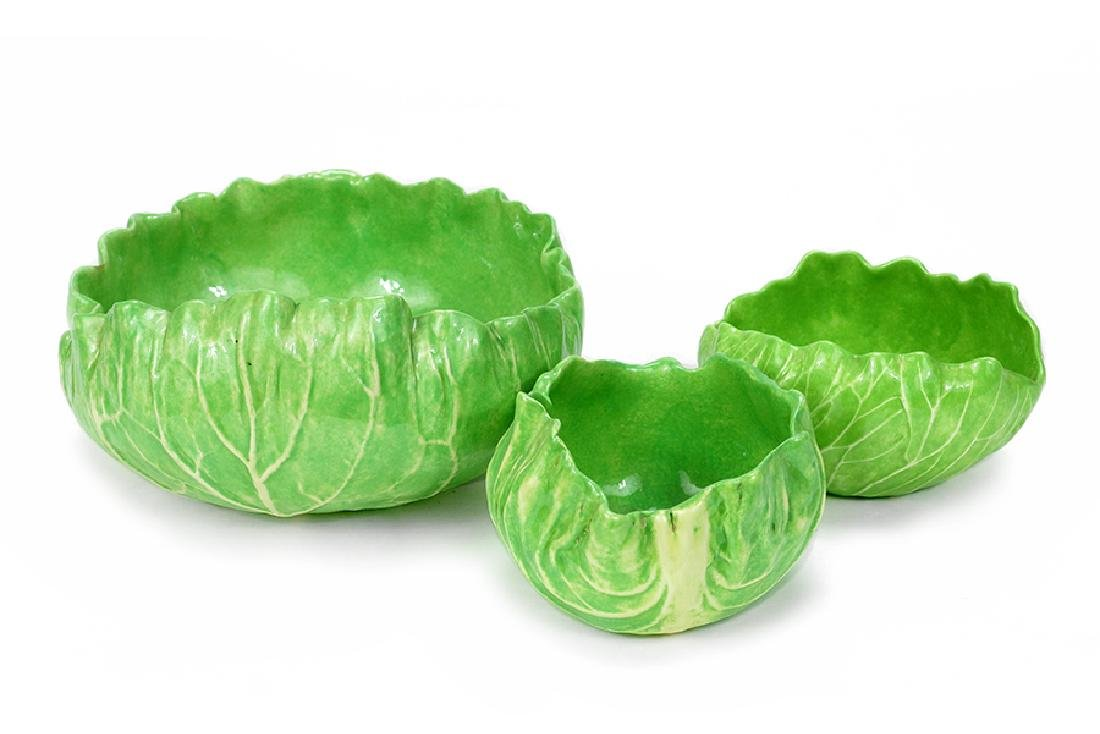 A Group Of Three Dodie Thayer Bowls.