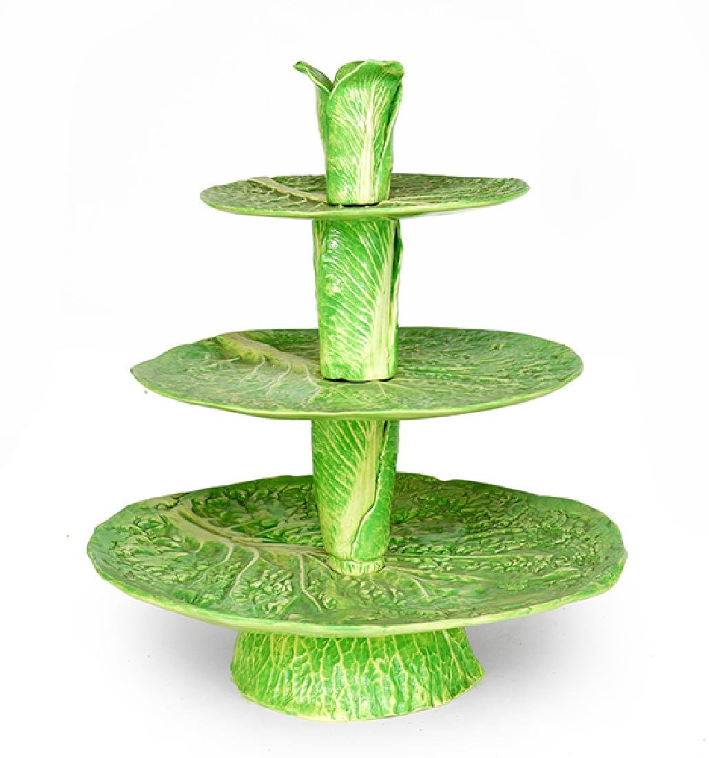 A Dodie Thayer Three-Tiered Compote.