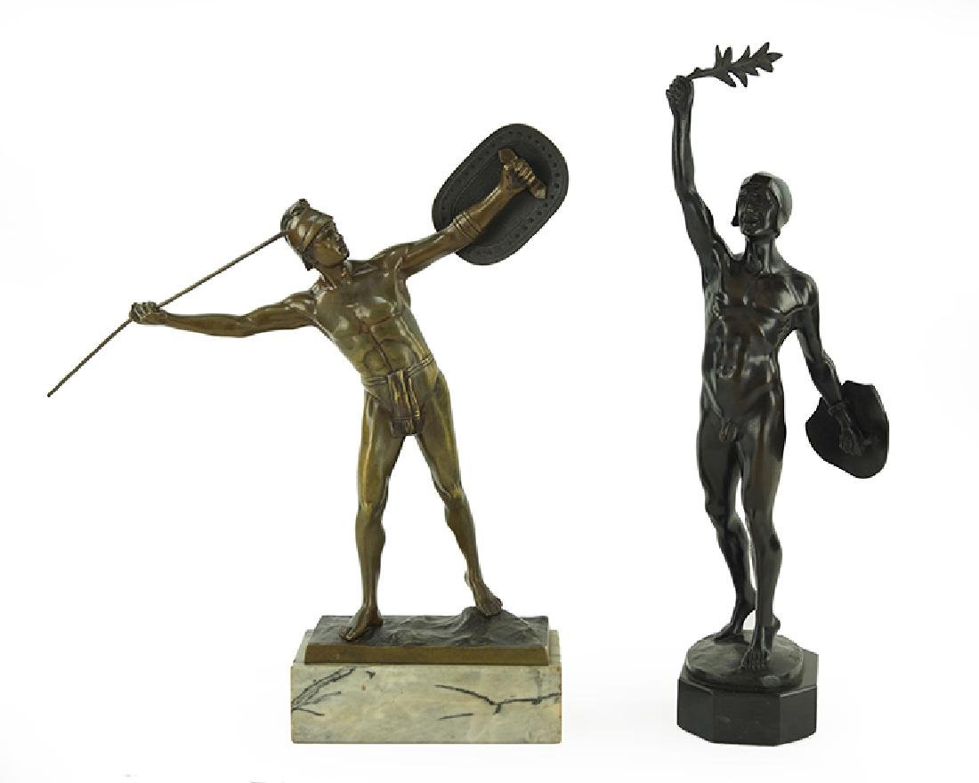 Two German Patinated Bronze Figures.