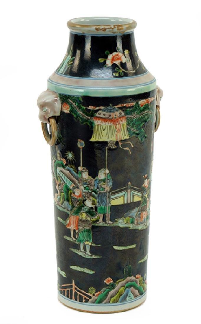 A Famille Noir Porcelain Vase.