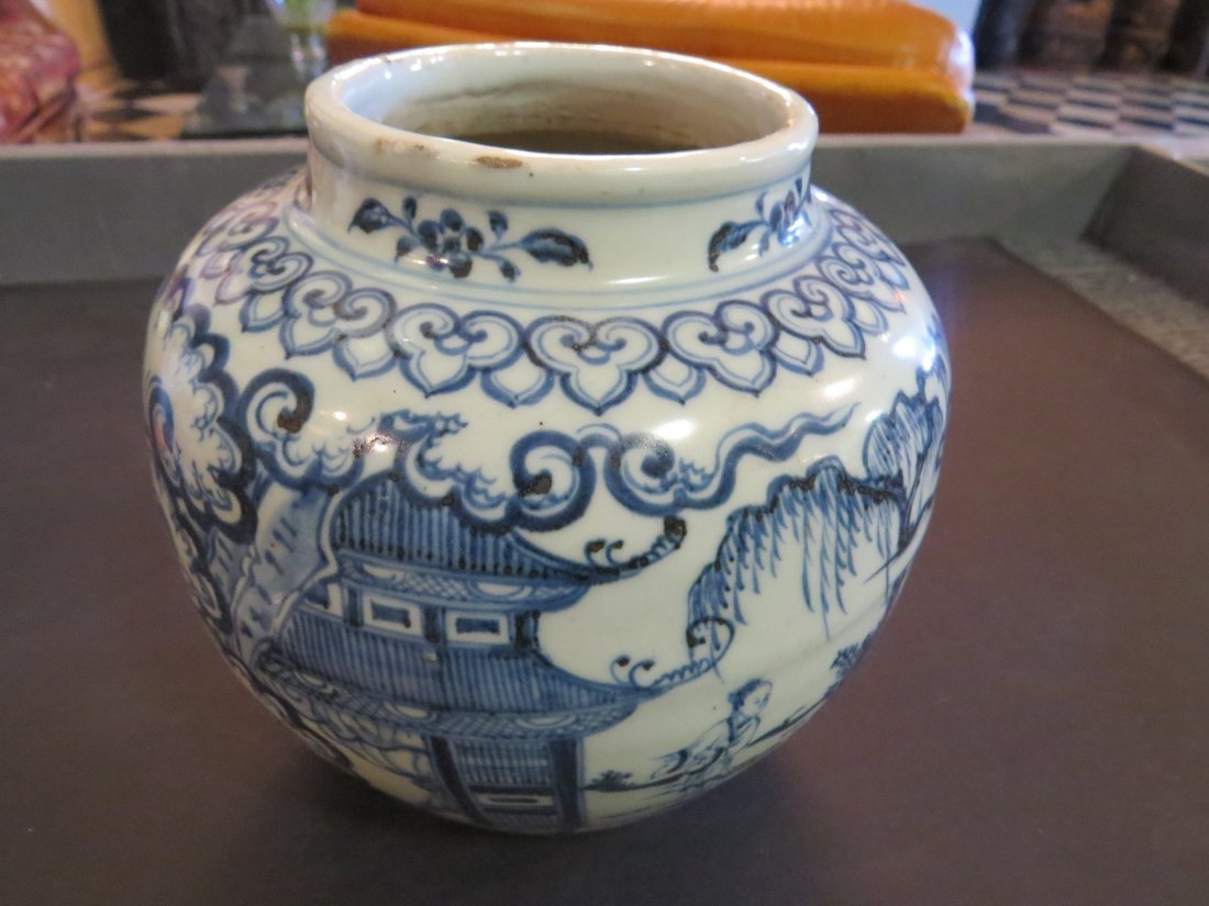 A Chinese Blue and White Porcelain Pot. - 2
