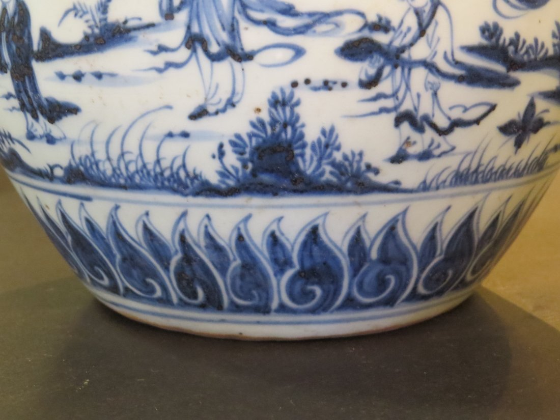 A Chinese Blue and White Porcelain Pot. - 4
