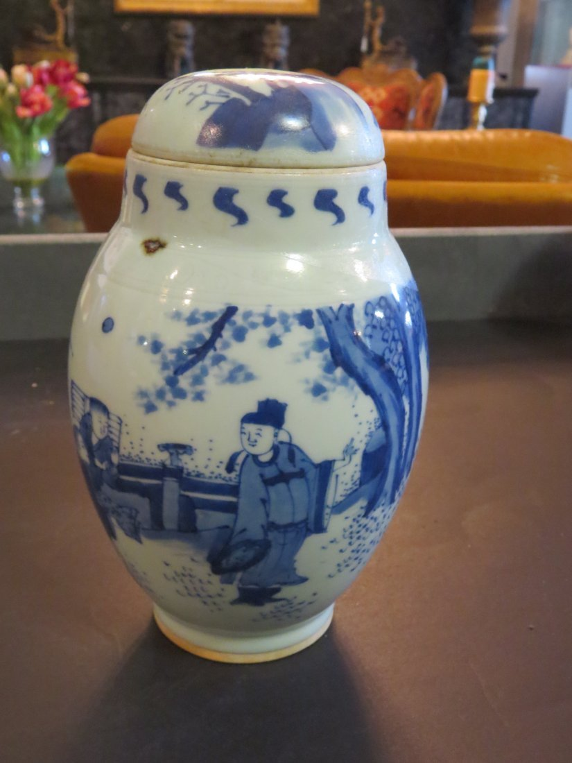 A Chinese Blue and White Porcelain Pot. - 6