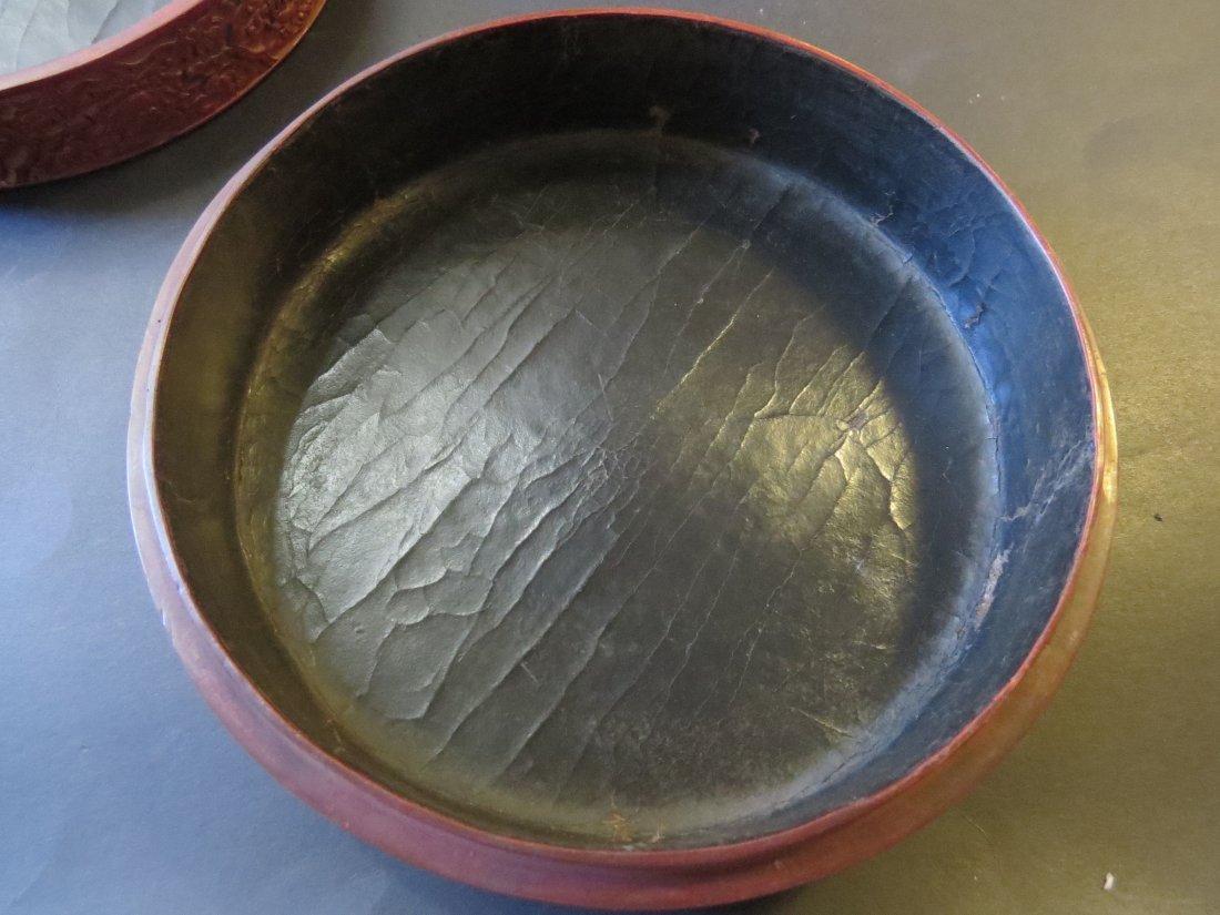 A Chinese Round Cinnabar Box. - 6