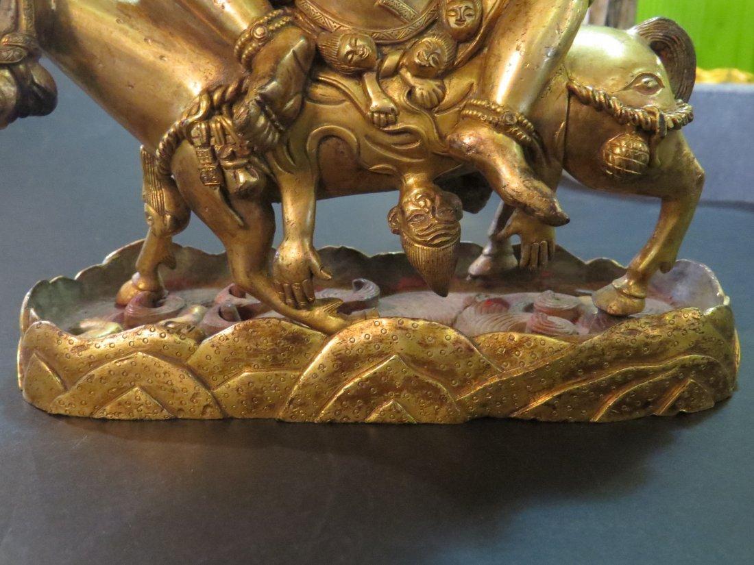 A Gilt Bronze Figure of the Buddhist Deity Palden - 4