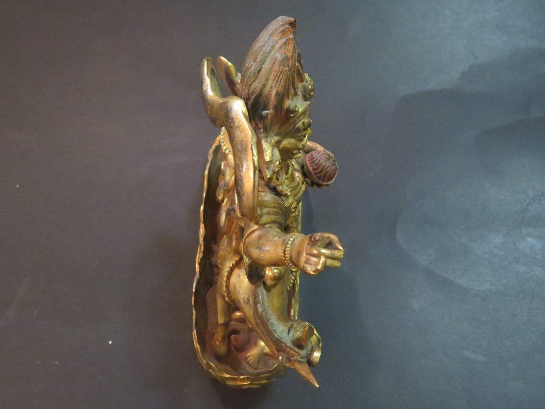 A Gilt Bronze Figure of the Buddhist Deity Palden - 7