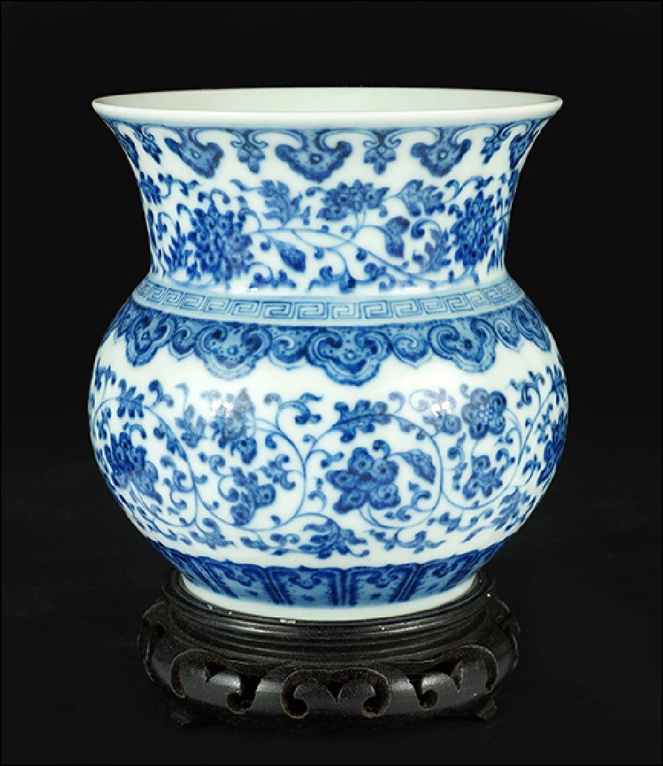 A Chinese Blue and White Porcelain Vase.