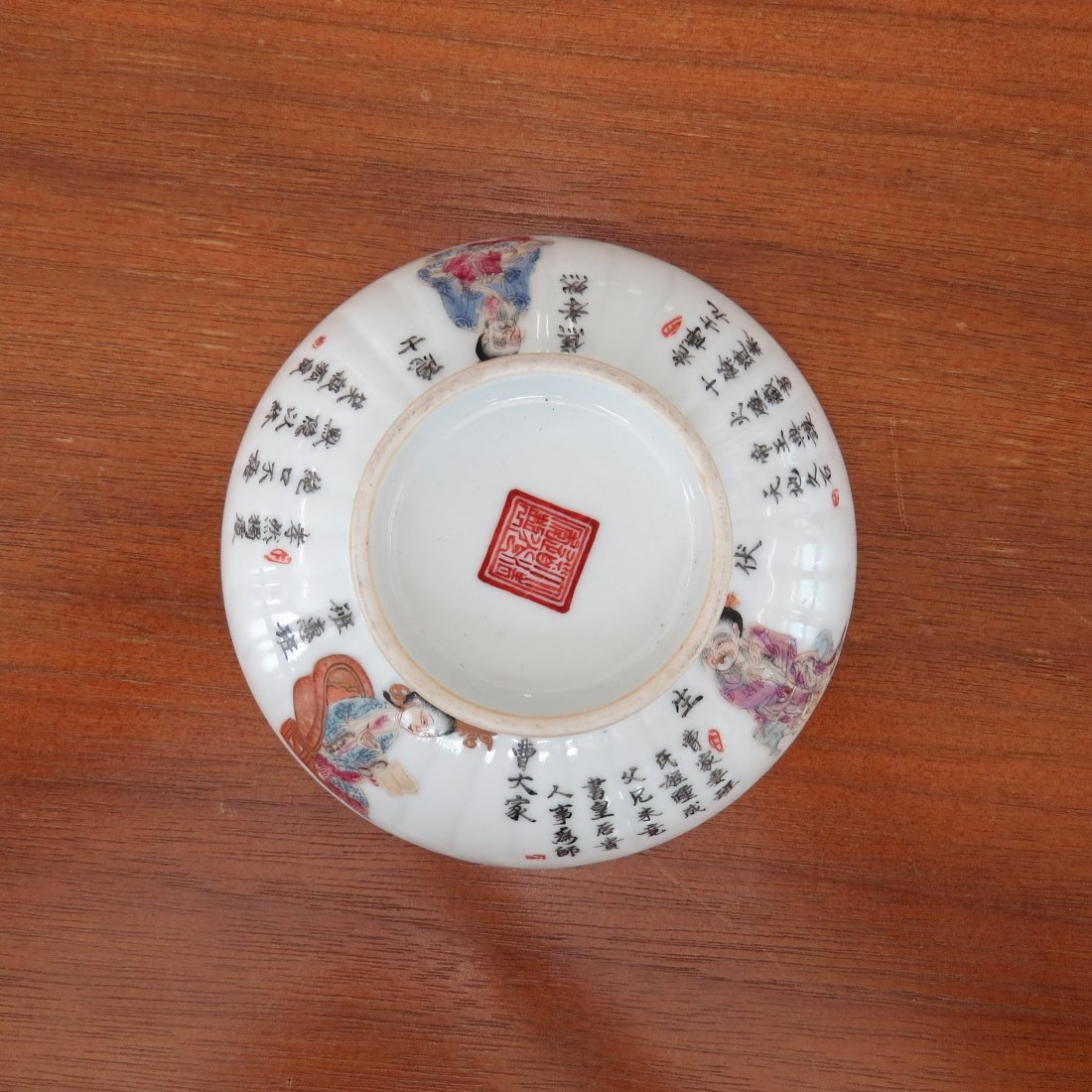 A Pair of Chinese Enameled Porcelain Teacups. - 3
