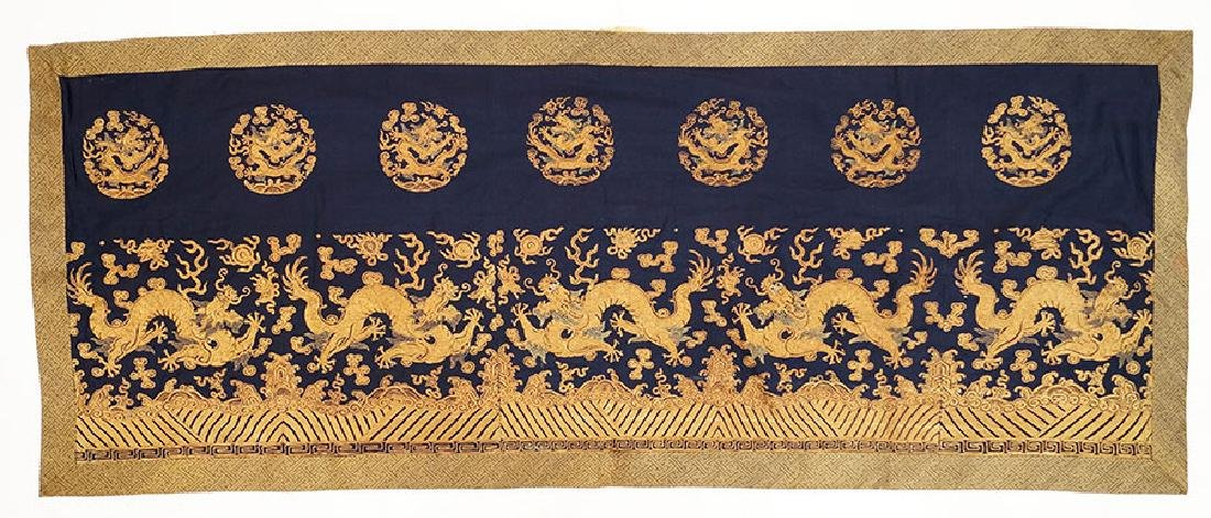 A Chinese Embroidered Panel.