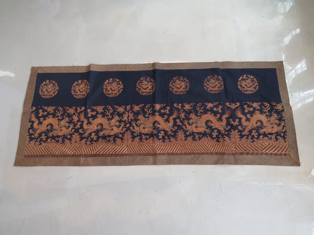 A Chinese Embroidered Panel. - 2